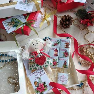 Сладкий подарочный набор к Новому году и Рождеству с милым Ангелом