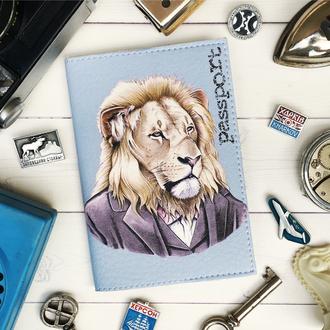 Обложка для паспорта, лев, царь, паспортная обложка, обложка на паспорт