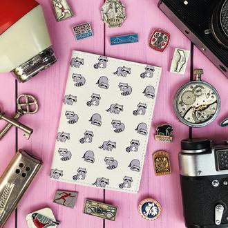 Обложка на паспорт, енотики, енот, еноты, паспортная обложка, обложка для паспорта