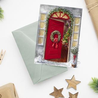 """Рождественская открытка """"Welcome"""""""