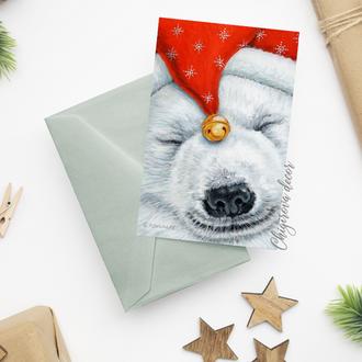 """Рождественская открытка """"Северный мишка"""""""