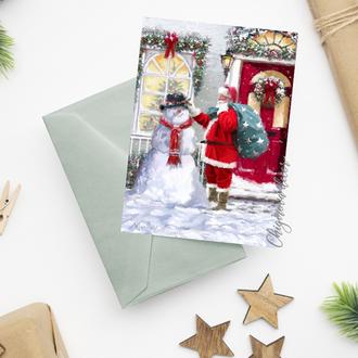 """Рождественская открытка """"Санта"""""""