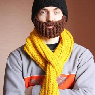 Шерстяная шапка с бородой