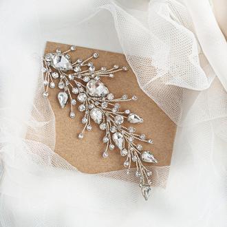 Свадебное украшение для волос, веточка в прическу, украшения в прическу, заколка, веточка в волосы