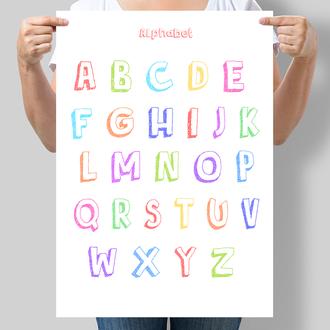 Постер для дитячої кімнати Англійський алфавіт