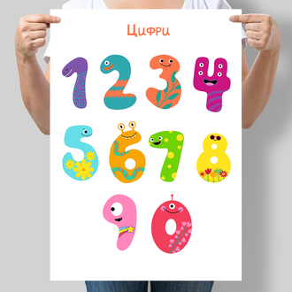 Дитячий постер Веселі цифри