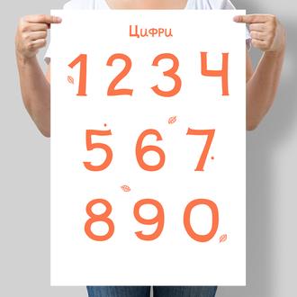 Постер для дітей Цифри