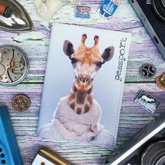 Обложка на паспорт, жираф, паспортная обложка