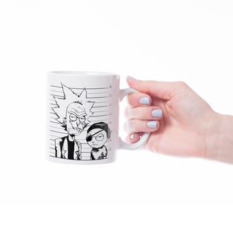 """Чашка с принтом """"Рик и Морти"""""""