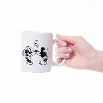 """Чашка с принтом """"Микки и Минни"""""""