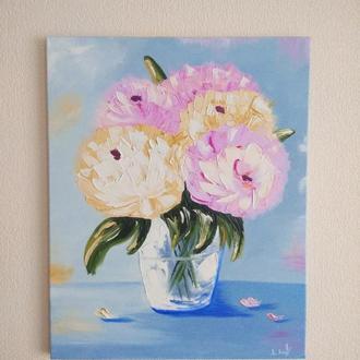 """Картина маслом """"Квіти у вазі"""""""