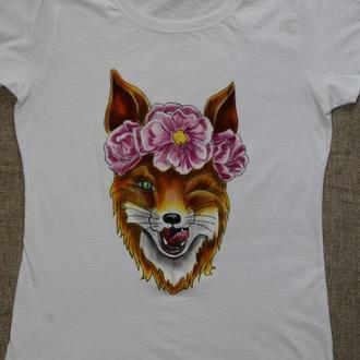Жіноча футболка з лисицею
