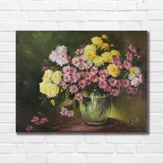 """Картина маслом """"Осенний букет"""" 35х45 см, холст на подрамнике, масло"""