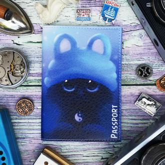Обложка на паспорт, мышка, паспортная обложка, котик, обложка для паспорта