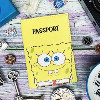 Паспортная обложка, Губка Боб, Спанч Боб, обложка на паспорт, обложка для паспорта