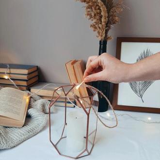 Свадебный стеклянный подсвечник. Декор для свадьбы. Напольный подсвечник.
