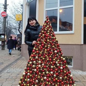 Елка Новогодняя как декор на стену к новому году