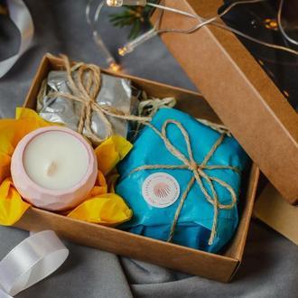 Милый набор соевых свечей в подсвечниках из гипса ручной работы🔥🔥🔥