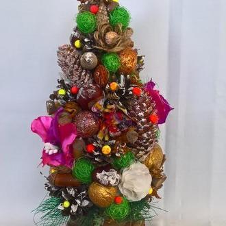 Рождественский топиарий. Новогодняя настольная елка.