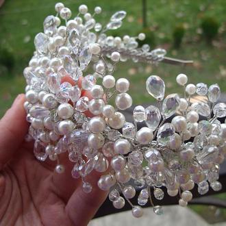 Свадебная диадема для невесты, диадема для невесты, свадебное украшение для волос