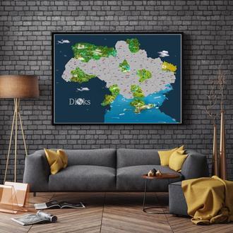 Скретч карта України 360° в тубусі та в рамці (формат А1)