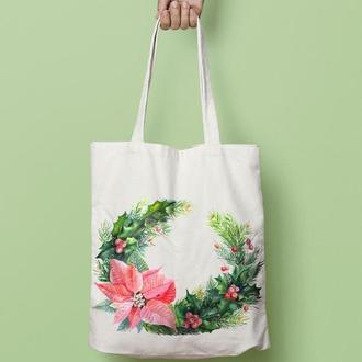 Эко-сумка с новогодним принтом