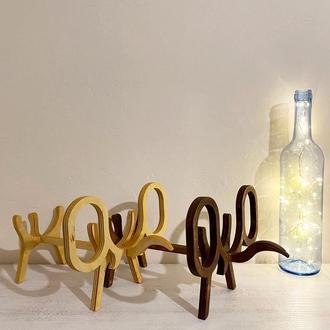 Подставка для бутылки вина в виде слона из фанеры