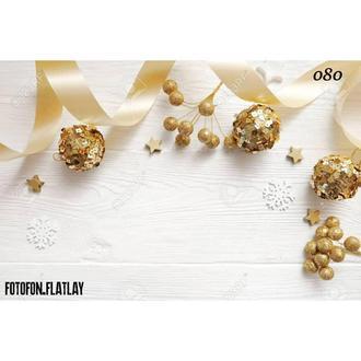 Фотофон белое дерево и золотой декор