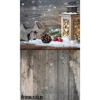 Фотофон стена пол угловой Новогодний
