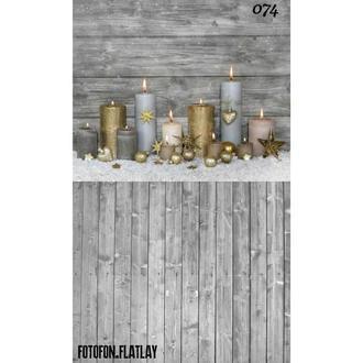 Фотофон стена пол угловой Свечи