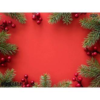 Фотофон красный Новый год