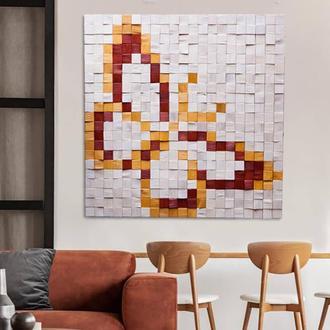 Панно Из Дерева, 3D Картина, 3Д Мозаика Дерево 1м. Х 1м. AF-401