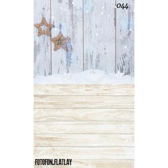 Фотофон стена пол угловой Снежок и Звездочки