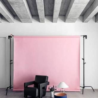Розовый однотонный виниловый фотофон