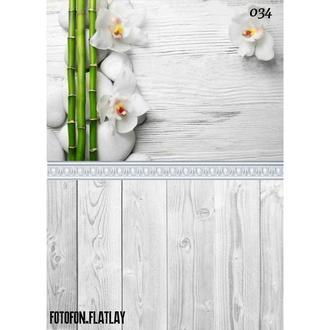 Фотофон стена пол угловой виниловый Орхидеи спа и бамбук