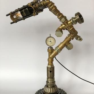 Лампа настільна  у стилі стімпанк