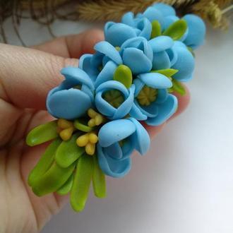 """Заколка для волос """"Весенние цветы"""""""
