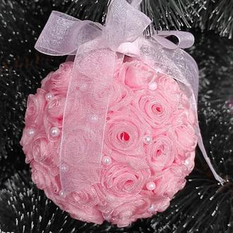 Новогодние шары розового цвета Елочные шары Большие шары на елку