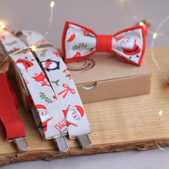 "Новогодний комплект аксессуаров для ребенка ""Санта"""