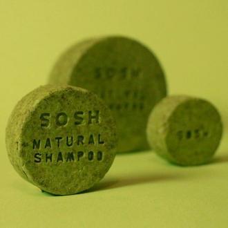 Твердый шампунь SOSH (M) укрепляющий (мята, зародыши пшеницы)