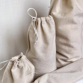 Набор эко-мешочков, мешочки для продуктов, хлопковые мешочки