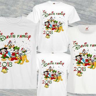 "ФП006251Футболки Фэмили Лук Family Look для всей семьи ""Новый Год: The Davis family"" Push IT"