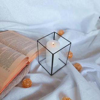 Геометрический подсвечник из стекла. Геометричний підсвічник.