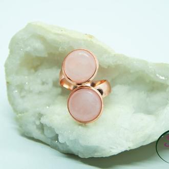 Двойные кольца с камнями