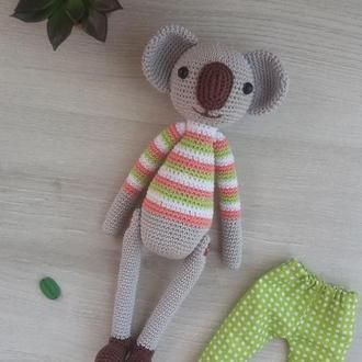 Вязаная игрушка коала