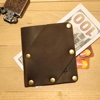 Шкіряний гаманець Дощ BRESKUL, коричневий