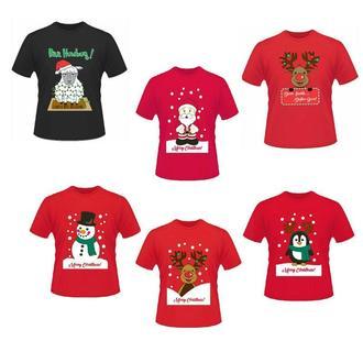 """ФП006286Футболки Фэмили Лук Family Look для всей семьи """"Рождество и Новый Год"""" Push IT"""