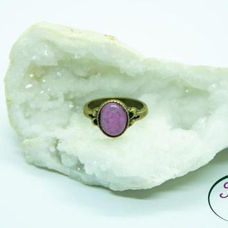 Кольцо агат, лабрадор, авантюрин, нефрит, розовый кварц