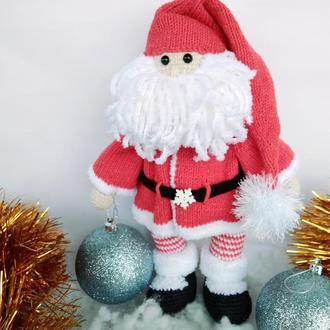 Тильда Санта  Дед Мороз вязаный. Для фотосессий, декор, интерьерная игрушка, подарок на новый год