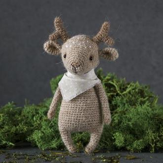 Маленький олененок из шерсти альпаки